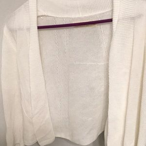 An Acrylic, off-white cardigan from Faded Glory.